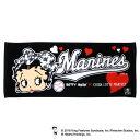 千葉ロッテマリーンズ公認グッズBetty Boop™×マリーンズ フェイスタオル/千葉ロッテ/マリーンズ/marines/ベティー ブープ™/かわいい