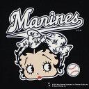 千葉ロッテマリーンズ公認グッズBetty Boop™×マリーンズ Tシャツ/千葉ロッテ/マリーンズ/marines/ベティー ブープ™/かわいい