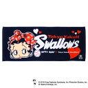 ヤクルトスワローズ公認グッズBetty Boop™×スワローズ フェイスタオル/東京ヤクルト/スワローズ/swallows/ベティー ブープ™/かわいい
