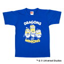 中日ドラゴンズ公認グッズミニオン×ドラゴンズ Tシャツ(子供用)/中日/ドラゴンズ/DRAGONS/MINIONS/かわいい