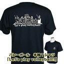 バレーボール 練習着 ジュニア 半袖 Tシャツ 「Let's play volleyball !」 (ノースアイランド) NORTHISLAND