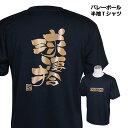 バレーボール 練習着 ジュニア 半袖 Tシャツ 「球凄拾(きゅうせいしゅ)」 (ノースアイランド) NORTHISLAND