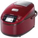 【海外向け炊飯器】【220〜230V仕様】 HITACHI 《蒸気カット 極上炊き》 圧力&スチームIH炊飯ジャー 5.5合炊き レッド RZ-KV100Y R