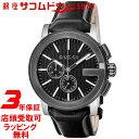 GUCCI 腕時計 G-グロノ ブラック文字盤 ステンレススチール クロノグラフ YA101205 メンズ