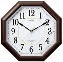 LANDEX(ランデックス) 電波壁掛け時計 ハイパーエイト アナログ表示 ステップ秒針 ダークブラウン YW9138DBR 4981480913812-YW9138DBR