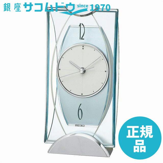 SEIKO CLOCK セイコークロック 置き時計 アナログ 銀色メタリック BZ334S