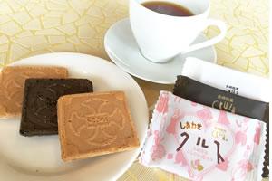九州 長崎 お土産 クルス 18枚入り 長崎土産 名菓 小浜食糧名菓 コーヒー イチゴ 苺 珈琲 バレンタイン
