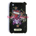 ショッピングphone 【即納】Ed Hardy iPhone 3G/3GS Crystal Faceplate LKS BLACK 【Ed Hardy】【セール商品】【EDH-IC-EH2021-BK】