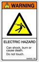 【1シート販売】 ISO警告ラベル縦型(SA)英文 SA002-15E (縦80mm横50mm、1シート5枚付)