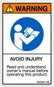 【5シート販売】 ISO警告ラベル縦型(SA)英文 SA008-15E (縦80mm横50mm、1シート5枚付) ご注文の「個数→1」で5シートです