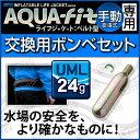 アクアテックス アクアフィット 手動膨張式 ウエストタイプ用交換ボンベセット 24gガスボンベ ライフジャケット