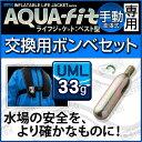 アクアテックス アクアフィット 手動膨張式 ベストタイプ用交換ボンベセット 33gガスボンベ ライフジャケット 釣り