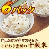 「ダスキン H&B こだわり素材の十穀米(6パック1500g)」雑穀米【レビューで