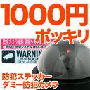 防犯カメラ ダミー 防犯ステッカー で1000円ポッキリ!【...