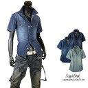 ショッピングダンガリー シャツ メンズ デニムシャツ 半袖 半袖シャツ ウエスタンシャツ コットンシャツ カジュアルシャツ ダンガリー カジュアル ウォッシュ M L LL XL D300410-07
