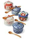 茶碗蒸し スープカップ 小鉢 蓋物 有田焼 彩絵変り バラエティーセット(saiky-k88-51762)