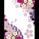 【ゆうパケット送料無料!※宅配便を選択時は送料がかかります。(ご注文後にこちらで追加します。)】蒔絵シール-JAPANESE FLOWER 桜 -SAKURA-...