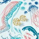 【注染手ぬぐい 生き物】『 深海魚 』 kenema【ゆうパケット送料無料!※宅配便を選択時は送料がかかります...