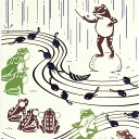 【注染手ぬぐい 夏の風物詩】『雨音コンサート』 kenema 【ゆうパケット送料無料!】【 日本製 手染め 手拭い てぬぐい 壁飾り タペストリー インテリア 梅雨 おたまじゃくし かえる カエル 蛙 】 sps