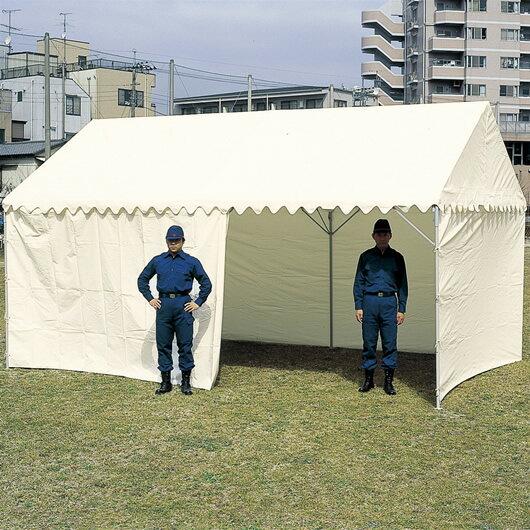 【送料無料】OK式テント 2×3間屋根幕+四方幕付】
