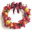 ハロウィンアレンジ リース 30cm (アレンジメント・飾り・ディスプレイ・店舗 室内装飾 vs0912)