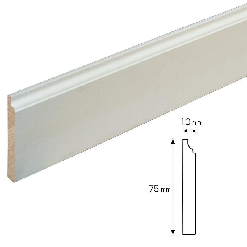 【40%割引】アウトレット NV220-W:木製モールディング 巾木 ワンコートモール(3650mm)