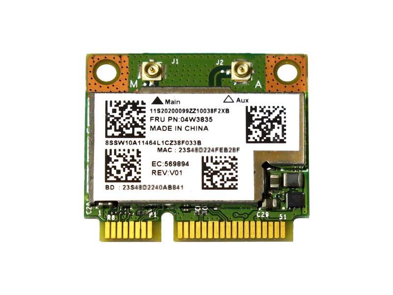 Lenovo純正 04W3834/04W3835 Broadcom BCM943228HMB 802.11a/b/g/n 300Mbps WLAN + Bluetooth 4.0 無線LANカード for Thinkpad X140e,S531,S230u,Edge E145,E430,E431 Touch,E530,E531,E545