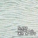 糸通しビーズ メール便可/MIYUKI ビーズ 糸通し 丸小 バラ売り 1m単位 ms250 透きオーロラ 無色