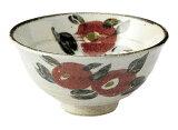 手描椿飯茶碗【萬古・万古・ばんこ・陶器・ごはん・飯・丼】