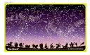 【送料無料】暗い所で星が光る2017年度ウオチ学習机デスクマットスター&ワールド裏面 世界地図 両面クリア
