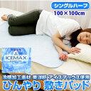 涼感 ICEMAX アイスマックス 敷きパッド ハーフサイズ (100×100cm) 532P26Feb16【RCP】【140705coupon300】【a_b】【敷パッド シングル シーツ 丸洗いOK 清涼寝具 節電】 fs04gm