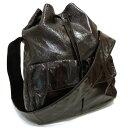 【中古】PRADA ショルダーバッグ 巾着 パテントレザー ブラック