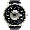 【中古】MONTBLANC モンブラン サメット メンズ腕時計 デイト クオーツ 文字盤ブラック SS 7045