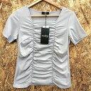 【中古】MODIFY モディファイ カットソー 半袖 Tシャツ レディース グレー 表記サイズ:40[hs][jggI]