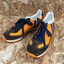 【中古】パトリック レディース スニーカー マラソン キャンバス オレンジ/ブラウン 表記サイズ:36[jggS]