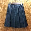 ショッピングバリ 【中古】バーバリー ブルーレーベル レディース スカート シープスキン ブラック サイズ36[jggI]