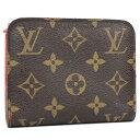 【中古】LOUIS VUITTON ポルトモネ アンソリット 二つ折り財布 モノグラム オランジュ オレンジ系 M66704