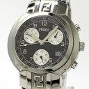 【中古】FENDI オロロジ メンズ腕時計 クロノグラフ デイト クォーツ SS ブラック文字盤 4500G