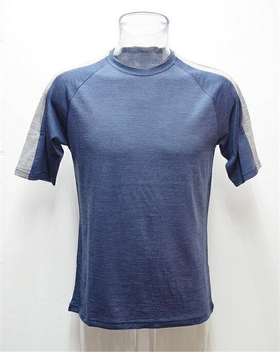 ワイポウアメリノウール 肩ラインショートTシャツ(メンズ)【SALE】