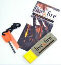 ◇LIVE FIRE GEAR・ライブファイヤーオリジナルサバイバルキット(着火剤+ファイヤースターター)