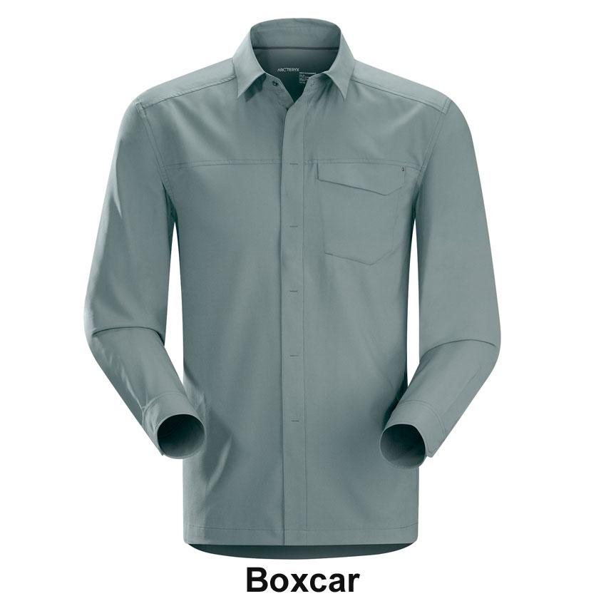 ◎アークテリクス 13689・Skyline LS Shirt Men's/スカイライン ロングスリーブシャツ Men's(Boxcar)L06576800