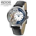 国内正規品エポスEPOS 3435HSKRBL LTD888「スケルトン腕時計」 「手巻き」美しいス...