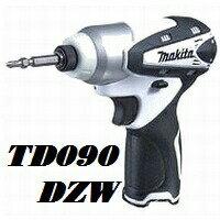 【在庫あり、即日発送可】マキタTD090DZW10.8V充電式軽量小型インパクトドライバー本体のみ白