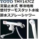 TOTO(トートー) シャワー用品 TMY147CZ 節水スプレーシャワー 定量止水式壁付サーモスタット水栓セット 寒冷地用 低水圧対応散水板付き