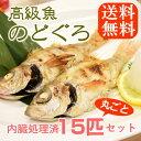 話題の高級魚[のどぐろ]が嬉しい15匹セットでさらに!【送料無料】★(ウロコ・内臓処理済み)ノドグロ