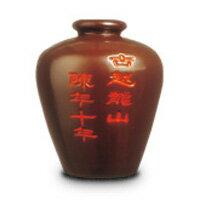 古越龍山 紹興花彫酒 陳年10年 茶甕 5L (中国酒)