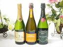 【第2弾】世界のスパークリングワイン飲み比べ!辛口3本セット(スペイン、フランス、イタリア泡ワイン3本セット