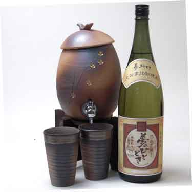 信楽焼・明山窯 焼酎サーバー 火色金小紋 220...の商品画像