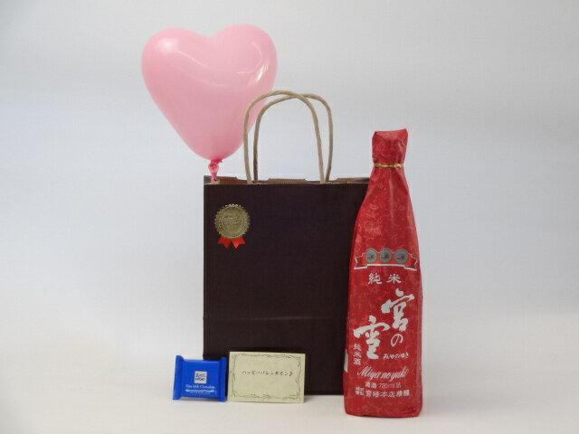 遅れてごめんね♪バレンタイン日本酒セット(宮崎本店宮の雪純米酒720ml(三重県))メッセージカード