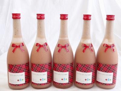10本セット ミルクたっぷりいちごの梅酒 研醸 720ml×10本